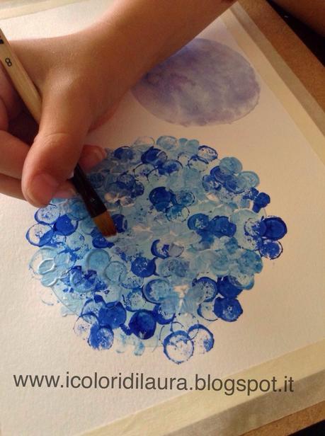 Quadri Con Ortensie : Dipingere la natura coi bambini tutorial ortensie