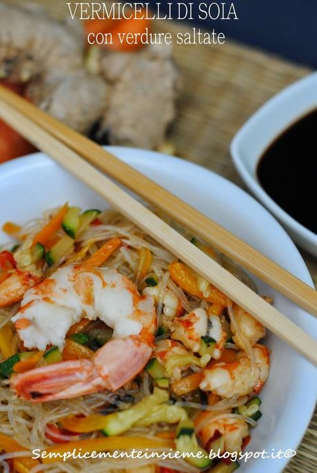 vermicelli di soia orientali saltati con verdure paperblog