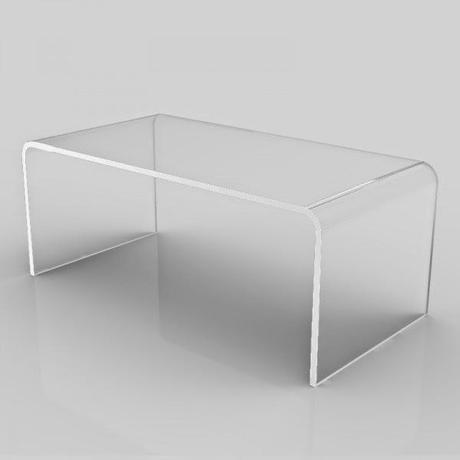 Tavolino basso in plexiglass 100x60 h:40 cm
