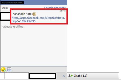 Virus Lol e hahaha su facebook tramite messaggio privato