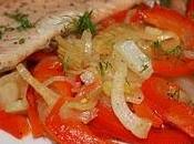 Filetto trota letto peperoni finocchi