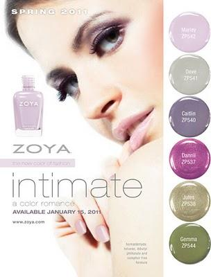Anteprima: Zoya Intimate Collection - Primavera 2011