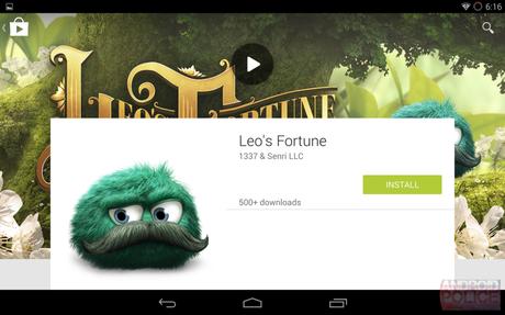 Google Play Store: cambio di look in stile Material Design?