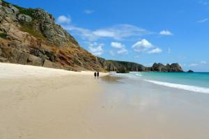 ... Porthcurno beach in West Cornwall