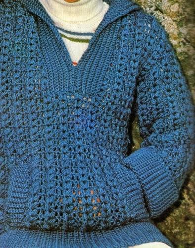 Lavori con l 39 uncinetto maglia azzurra a uncinetto paperblog for Lavori uncinetto bordi