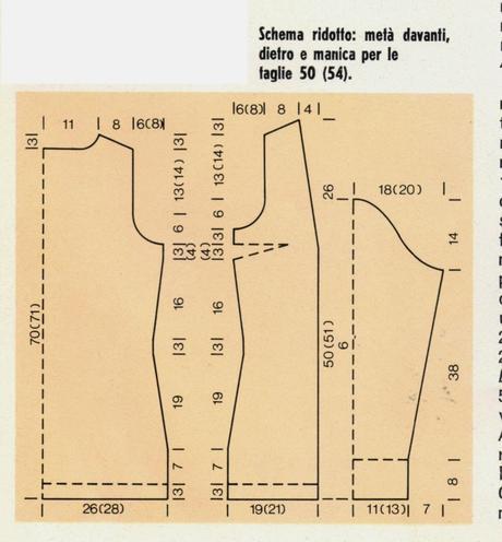 Eccezionale Lavori a maglia: Giacca da donna - Paperblog QD28