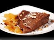 Crêpes cacao mele caramellate Cointreau pinoli.