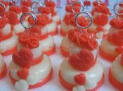 Mini cake compleanno color rosso corallo