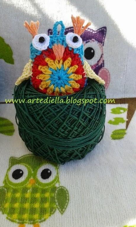 Gufo all 39 uncinetto crochet owl tutorial paperblog - Civetta porta fortuna ...