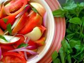 Insalata pomodori pesche Tomatoes peaches salad