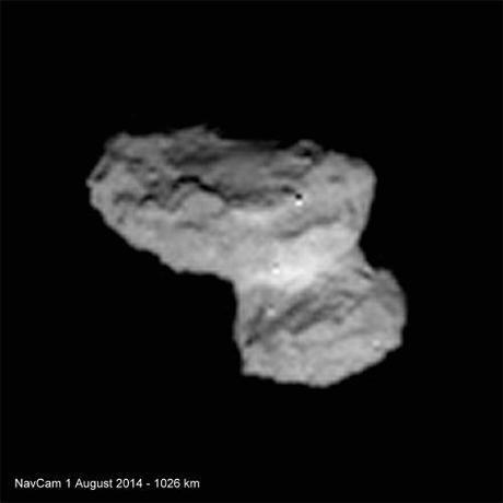 ESA Rosetta: 67P 1 agosto 2014 NavCam e OSIRIS NAC