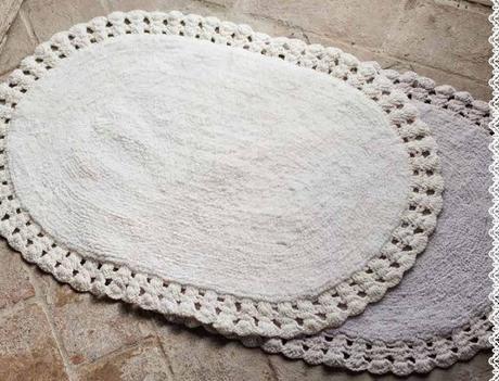 Tappeti bagno crochet: una magia shabby chic - Paperblog