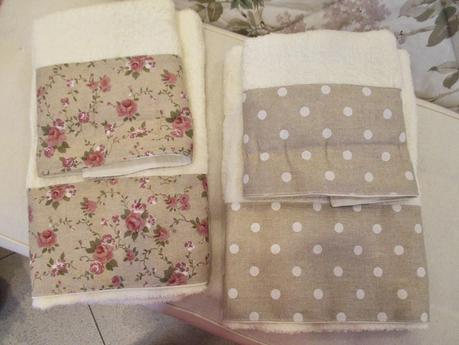 Asciugamani made in italy per un bagno shabby chic - Set asciugamani bagno ikea ...