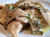 Pollo, panna funghi