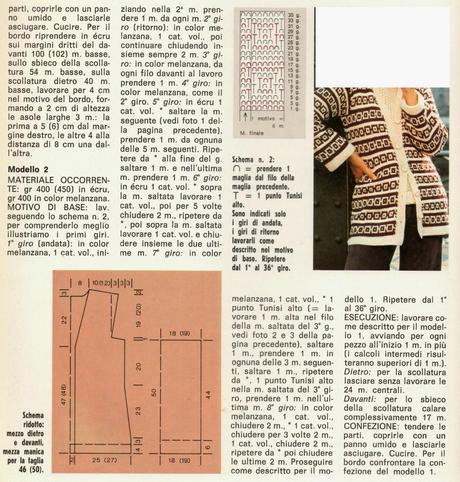 Lavori Con Luncinetto Giacche Di Lana A Punto Tunisino Paperblog