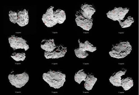 ESA Rosetta 67P Big CAT mosaic 6 - 17 agosto