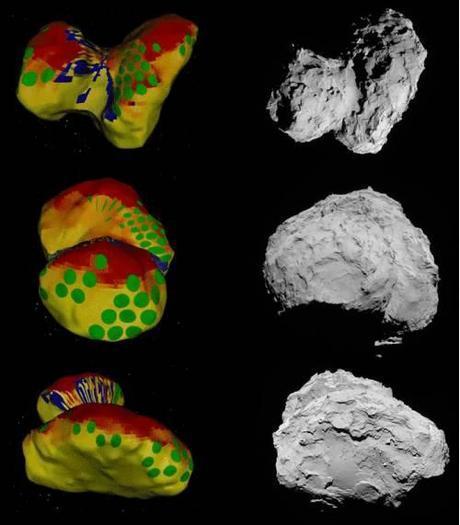 ESA Rosetta: 67P possibili siti di atterraggio