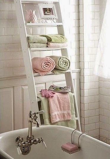 Riciclo creativo idee fai da te per la casa paperblog - Scala per bagno ...