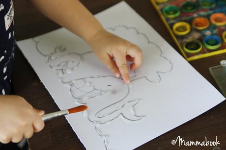 Attività artistiche per bambini: il trucco per dipingere con gli acquarelli – How to easy watercolor paint for small kids