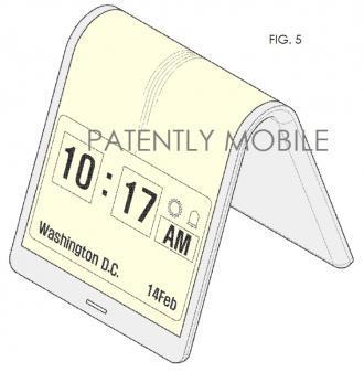 Display flessibili Samsung Display flessibili: Samsung brevetta il prototipo di uno smartphone news  samsung display flessibili