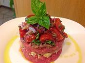 Tartar manzo pomodorini cipolle tropea capperi cuore croccante