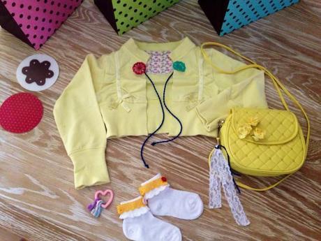 outfit giallo bimba refashion