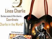 BORSE DIPINTE MANO. Charlie Chaplin coordinato Vintage!