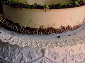 Lime chocolate cheesecake