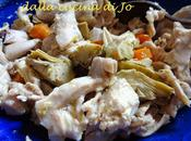 Coniglio insalata carciofini taggiasche