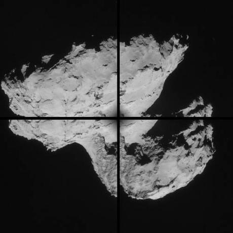 ESA Rosetta: 67P montaggio 31 agosto NavCam