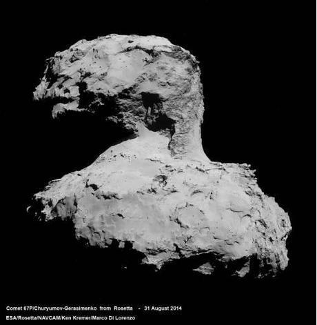 ESA Rosetta: 67P 31 agosto 2014