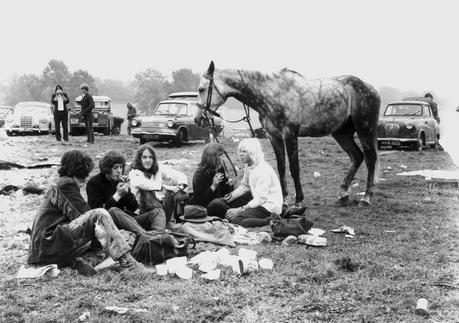 3._Hippies_and_their_horse_at_the_first_festival_1970_Brian_Walker