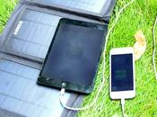 Caricatore Solare Pieghevole iPhone, Android, iPad Tablet!