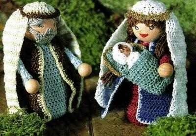 Speciale Natale Lavori Con Luncinetto La Sacra Famiglia Paperblog