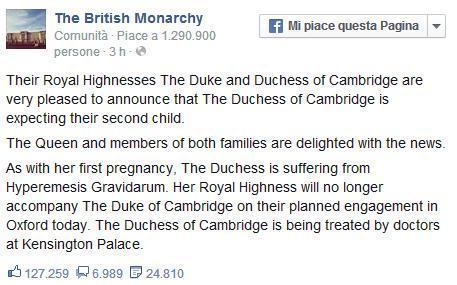Kate Middleton e William ancora genitori