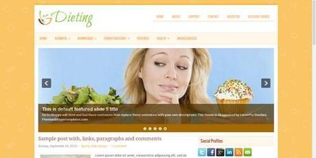 i migliori temi blogger per creare un blog di cucina