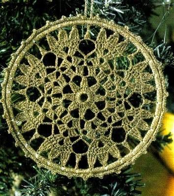 Speciale Natale Lavori A Uncinetto Addobbo Dorato Paperblog