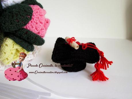 Cappello Laurea Per Confettatacon Sorpresa Realizzato A Uncinetto
