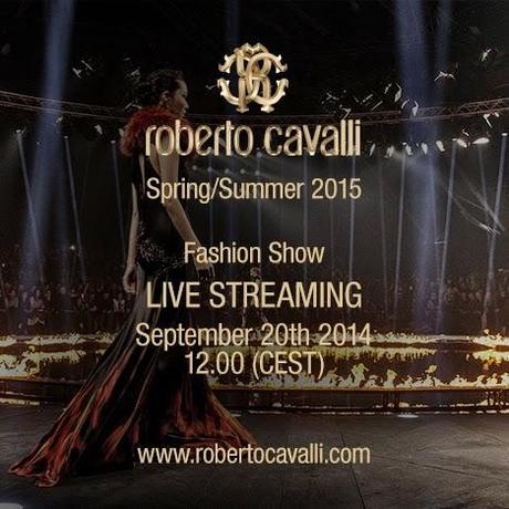 Roberto Cavalli live streaming on Uptowngirl - Milan Fashion week