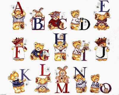 Alfabeto a punto croce son orsetti paperblog for Alfabeto a punto croce per neonati