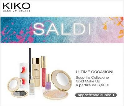 Saldi Kiko - Collezione Gold Make Up