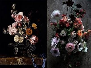 Bouquet come le Nature Morte degli Olandesi