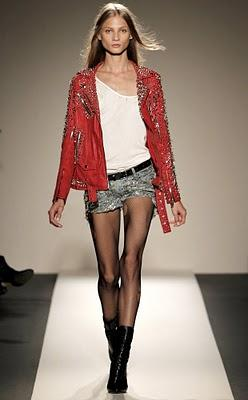 Balmain red studded leather jacket ....