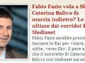 Fabio Fazio Sky. Salta Caterina Balivo Mediaset