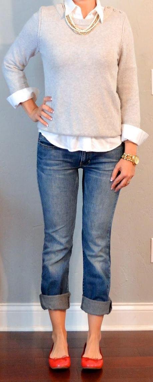 perchè non si possono avere degli onesti  boyfriend jeans senza buchi nè strappi... anche se sembriamo un pò delle nonne, così? perchè?
