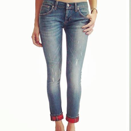 tartan-detail-jeans
