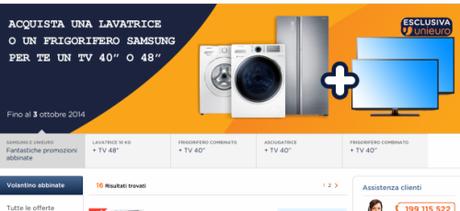 promozione abbinate samsung compra un frigo o una