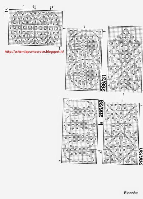 Raccolta di schemi a punto croce monocolore paperblog for Schemi di cabina di log
