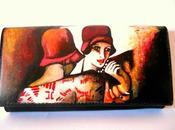 Portafogli dipinti mano, hand-painted wallets