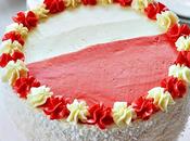 Torta bianco rosso